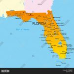 Vector Color Map Vector & Photo (Free Trial) | Bigstock   Big Map Of Florida