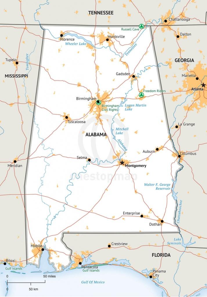 Alabama State Map Printable