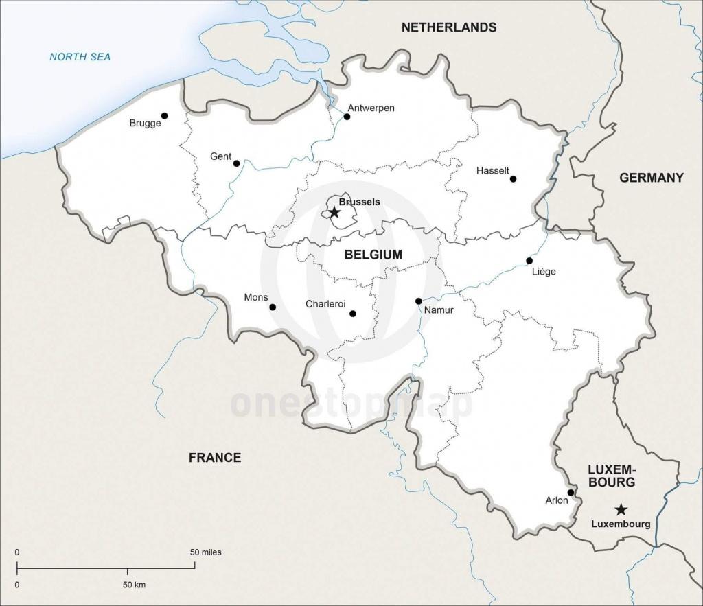 Vector Map Of Belgium Political | One Stop Map - Printable Map Of Belgium