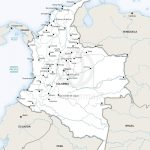 Vector Map Of Colombia Political | One Stop Map   Printable Map Of Colombia