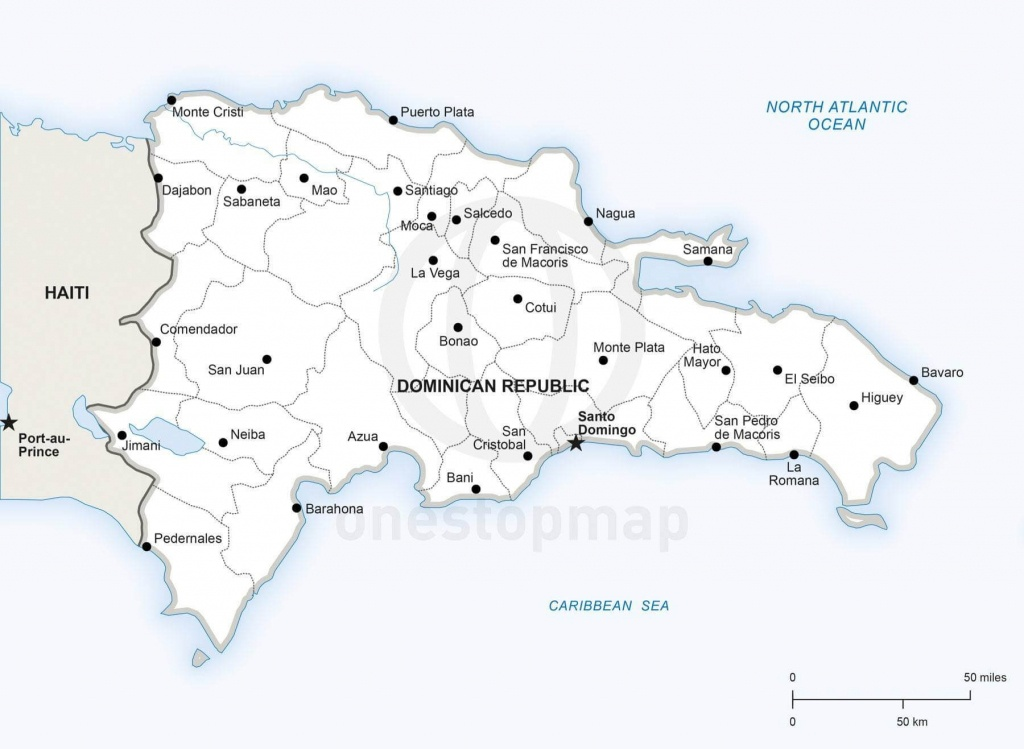 Vector Map Of Dominican Republic Political   One Stop Map - Printable Map Of Dominican Republic