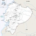 Vector Map Of Ecuador Political | One Stop Map   Printable Map Of Ecuador