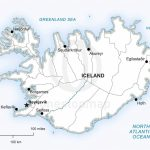 Vector Map Of Iceland Political | One Stop Map   Maps Of Iceland Printable Maps