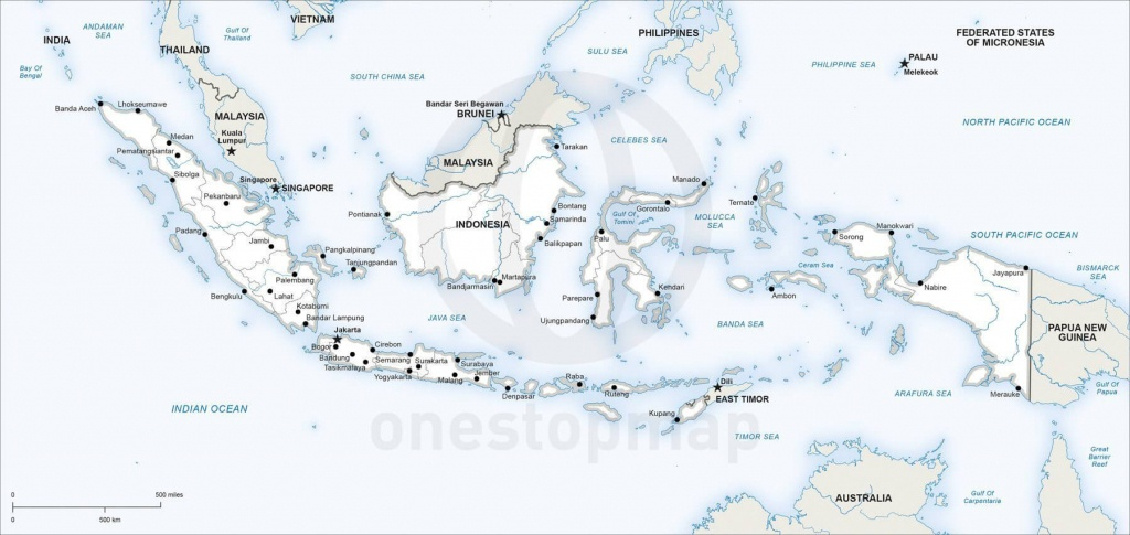 Vector Map Of Indonesia Political | One Stop Map - Printable Map Of Indonesia