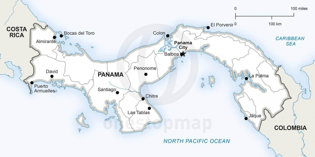 Vector Map Of Panama Political   One Stop Map - Printable Map Of Panama
