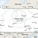 Vector Map Of Pennsylvania Political | One Stop Map   Printable Map Of Pennsylvania