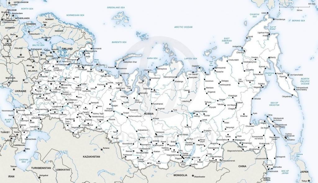 Vector Map Of Russia Political | One Stop Map - Printable Map Of Russia