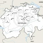 Vector Map Of Switzerland Political | One Stop Map   Printable Map Of Switzerland
