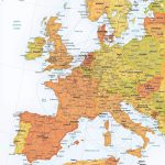 Vector Map Western Europe Roads Ferries | One Stop Map   World Map With Cities Printable