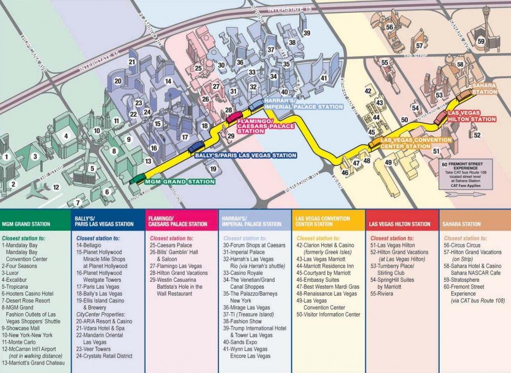 Vegas Monorail Map 2012    Vegas Convention Center Station Las - Free Printable Map Of The Las Vegas Strip