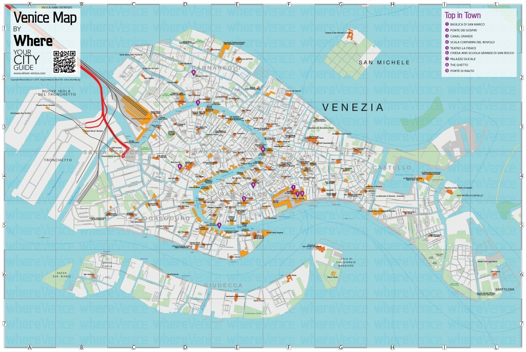 Venice City Map - Free Download In Printable Version   Where Venice - Street Map Of Venice Italy Printable