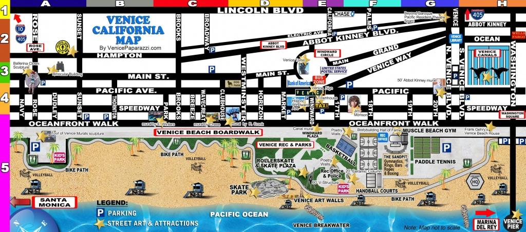 Venice-Map | La In 2019 | Venice California, Venice Beach Florida - Map Of Venice California Area
