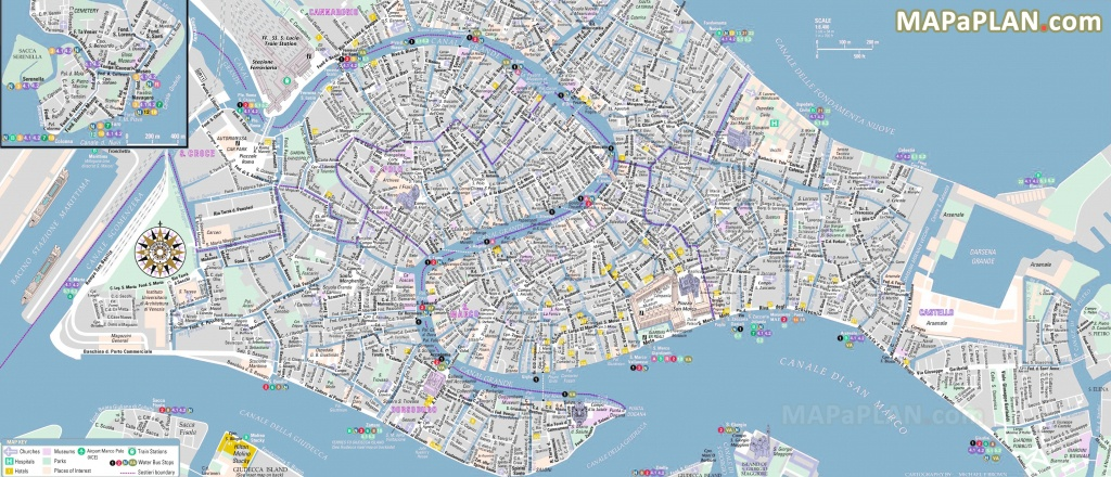 Venice Maps - Top Tourist Attractions - Free, Printable City Street Map - Venice City Map Printable