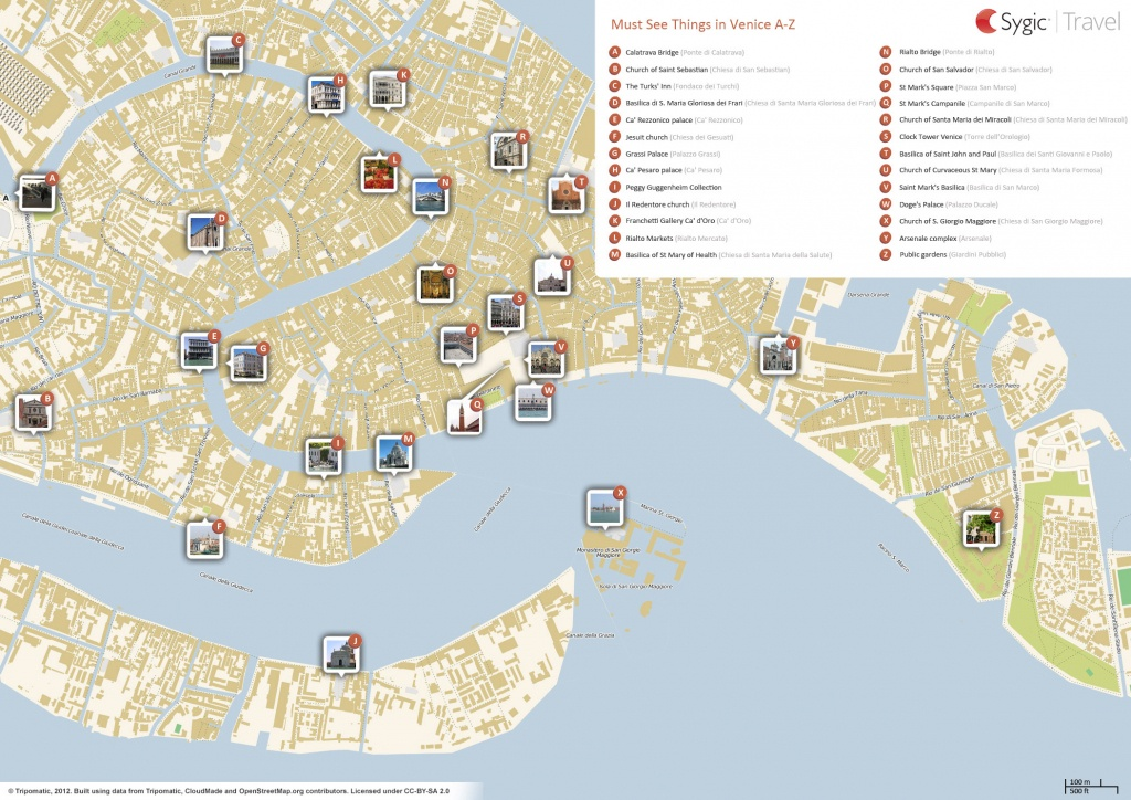 Venice Printable Tourist Map | Sygic Travel - Printable Map Of Venice