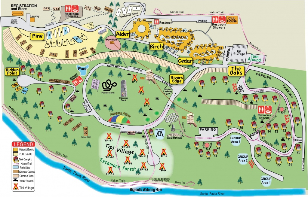 Ventura Ranch Koa Camping - Great For Kids! | Travel | Death Valley - California Camping Sites Map