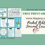 Verse Mapping With Pocket Bible Journal Cards – Bible Journal Love   Verse Mapping Printable