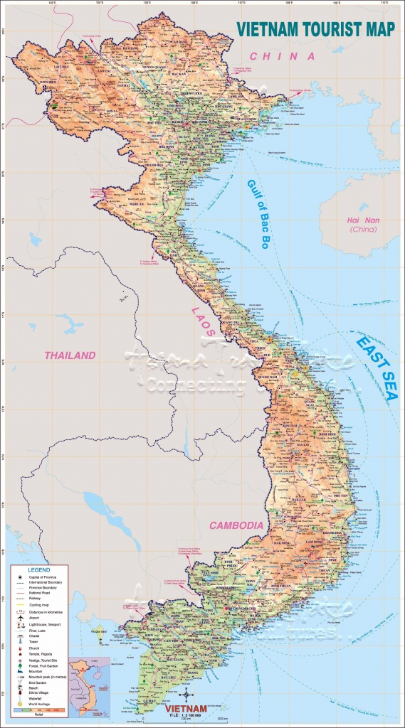 Printable Map Of Vietnam