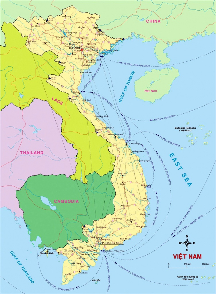 Vietnam Maps | Printable Maps Of Vietnam For Download - Printable Map Of Vietnam