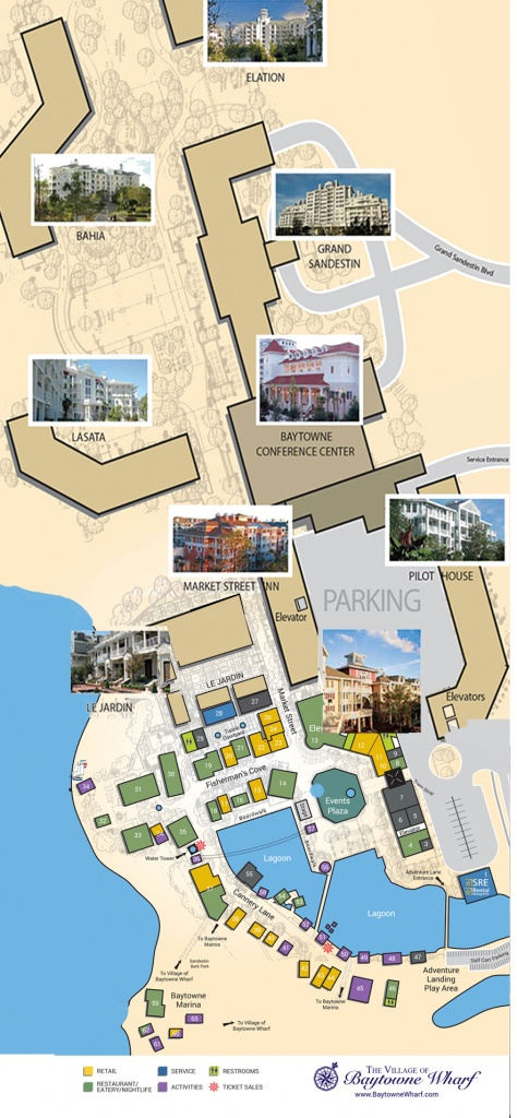 Village Map   The Village Of Baytowne Wharf   Located In Sandestin - The Villages Florida Map