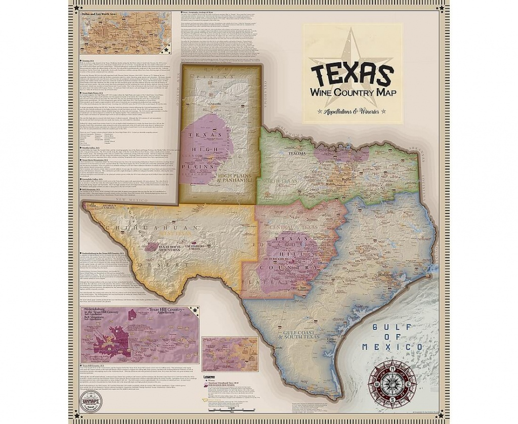 Vinmaps Texas Wine Country Map, Appellations & Wineries Review - Texas Wine Country Map