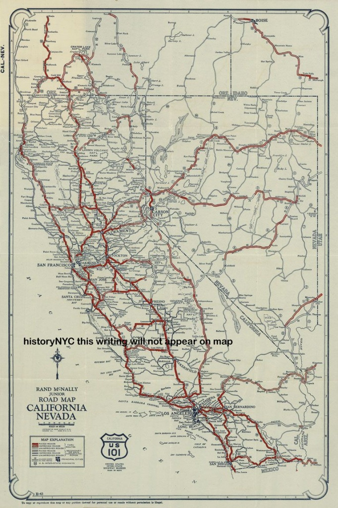 Vintage California Road Map - Google Search   California Road Trip - California Road Map Google