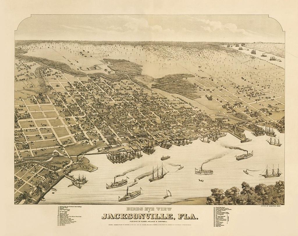Vintage Map - Jacksonville, Florida 1876 | Chelsea's Things | Map Of - Old Maps Of Jacksonville Florida