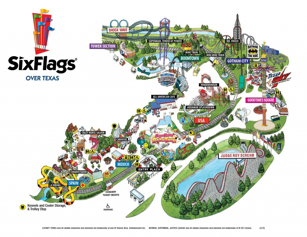 Vintage Six Flags Over Texas Park Map 1 10 | Sitedesignco - Six Flags Over Texas Map App
