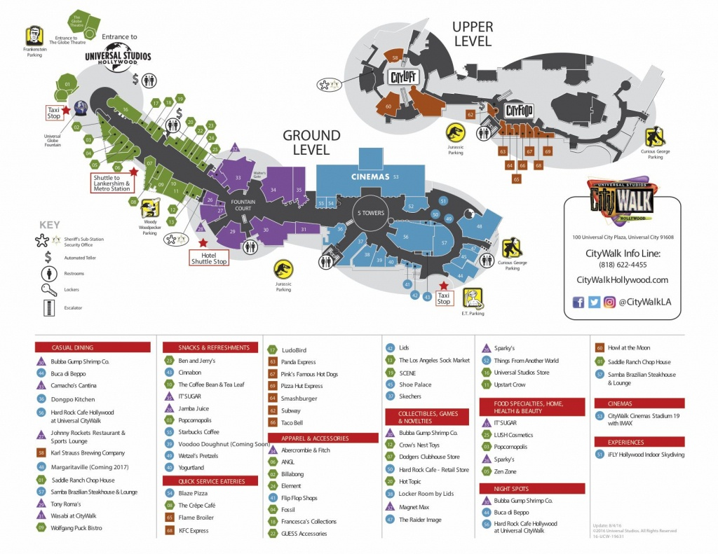 Visitor Map | Citywalk Hollywood | Oh The Places We Will Go In 2019 - Universal Citywalk California Map