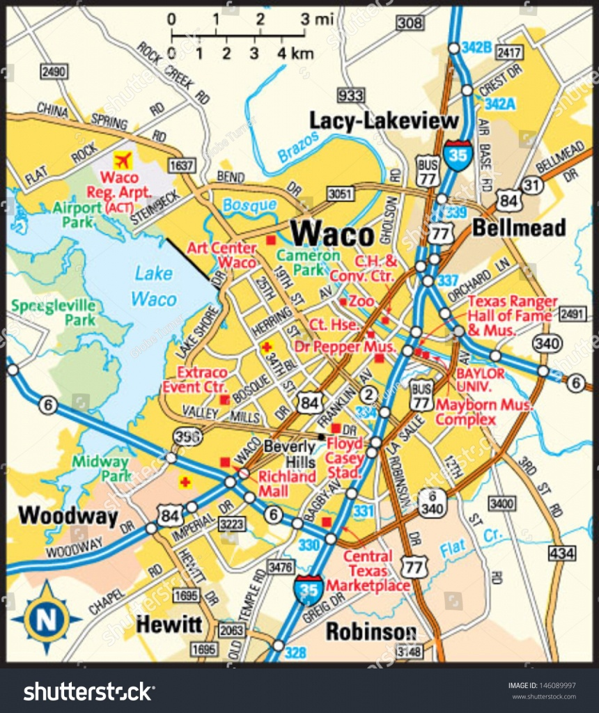 Waco Map And Travel Information | Download Free Waco Map - Printable Map Of Waco Texas