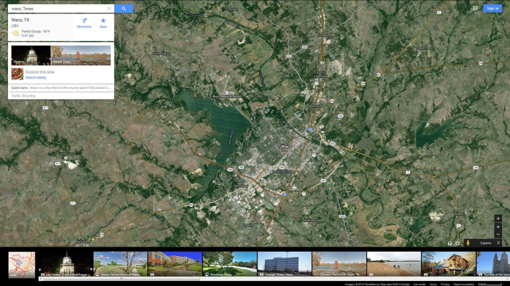 Waco, Texas Map - Google Maps Waco Texas