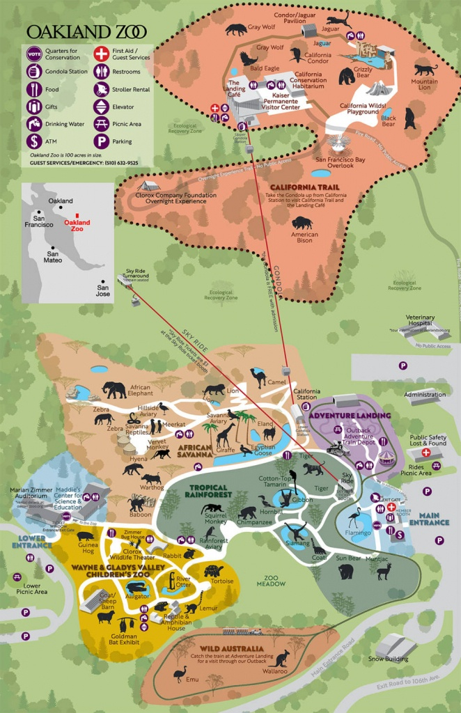 Walking Through The Zoo, Part 2: The California Trail - Oakland Zoo California Trail Map