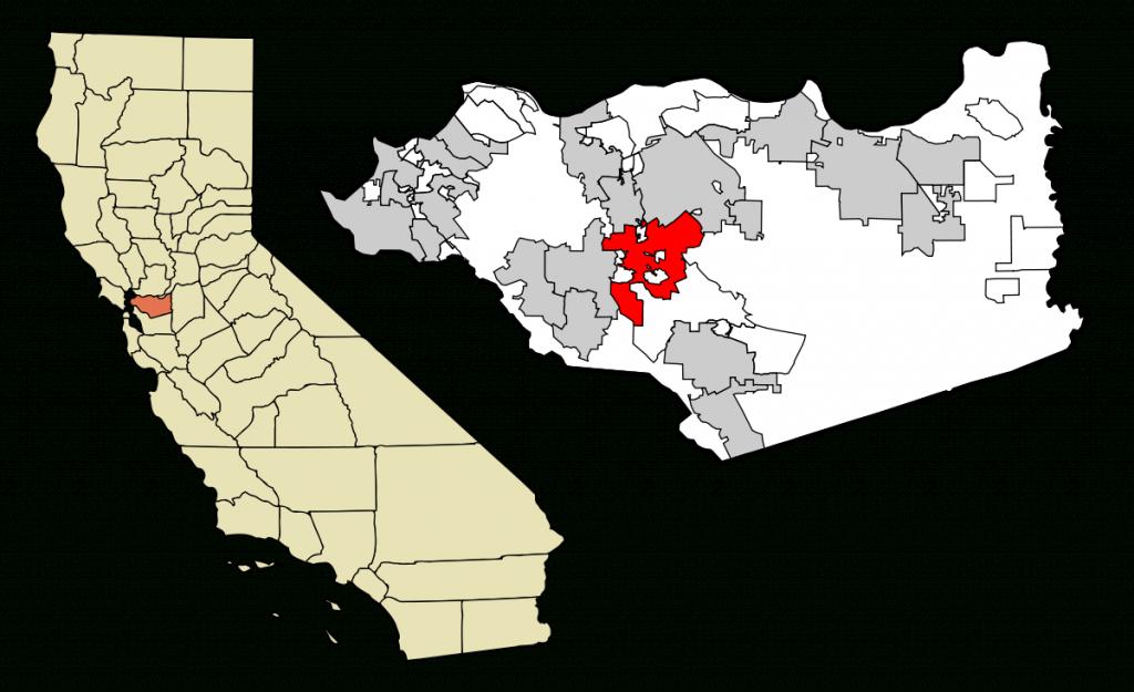 Walnut Creek, California - Wikipedia - Walnut California Map