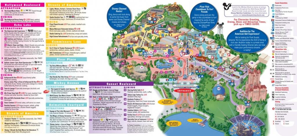 Walt Disney World Map 2014 Printable | Walt Disney World Park And - Printable Disney Park Maps