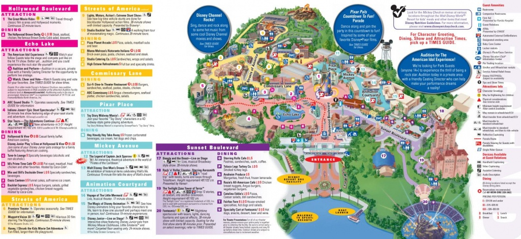 Walt Disney World Map 2014 Printable | Walt Disney World Park And - Walt Disney World Printable Maps