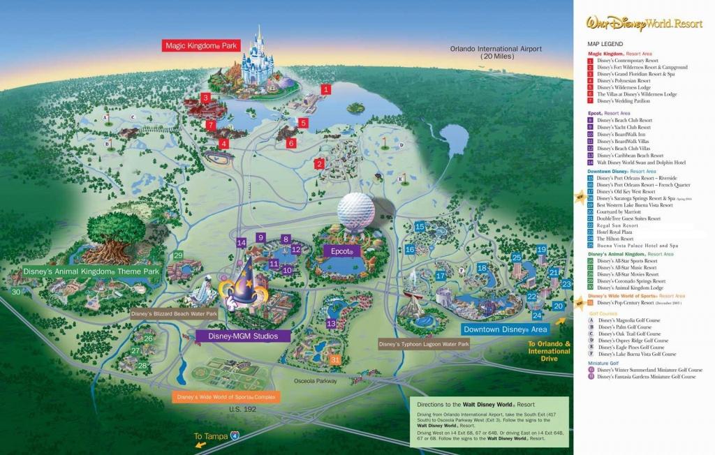 Walt Disney World Map - World Wide Maps - Disney Florida Maps 2018