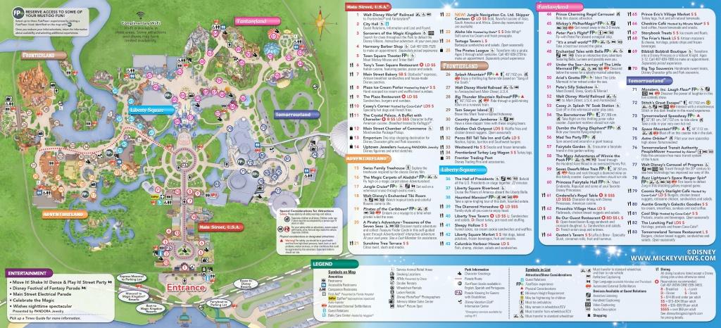 Walt Disney World Maps - Magic Kingdom Florida Map