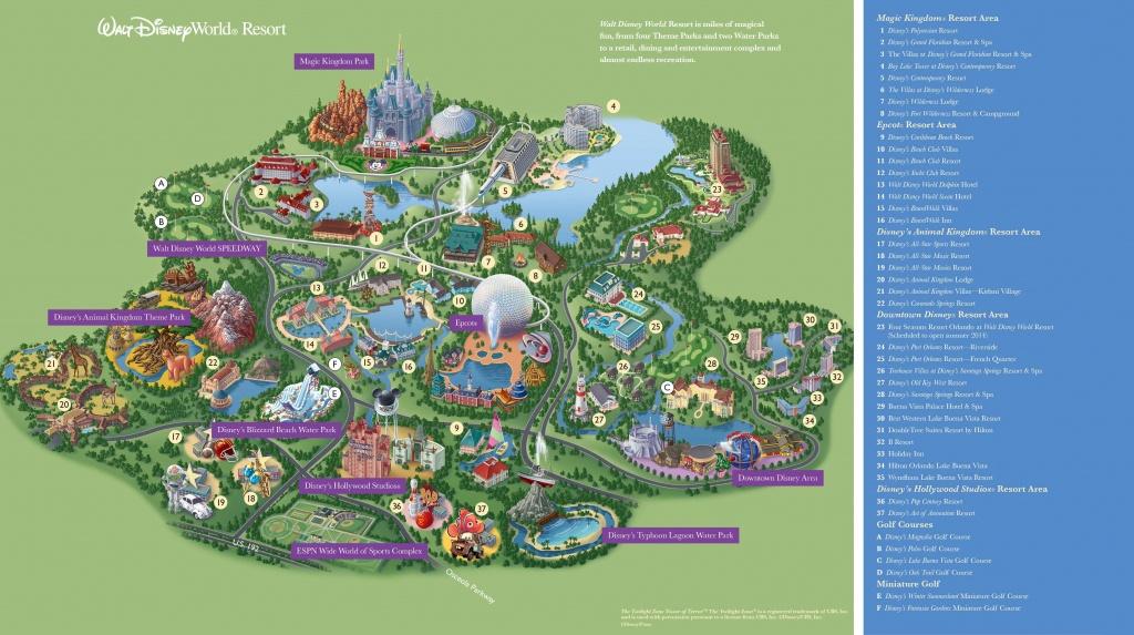 Walt Disney World Maps - Parks And Resorts In 2019   Travel - Theme - Disney Parks Florida Map