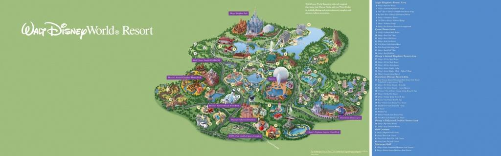 Walt Disney World® Resort Map- Wyndham Lake Buena Vista - Hotel Near - Disney Resorts Florida Map