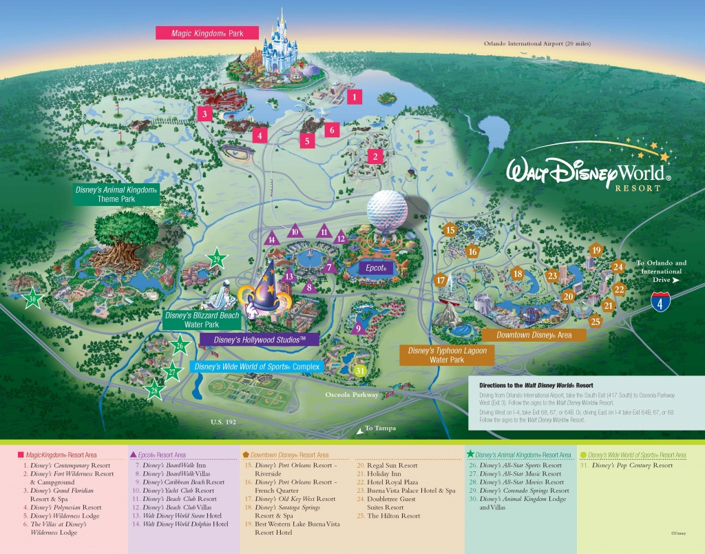Walt Disney World - Resorts - Resort Map | Wdw -- Disney Resorts In - Florida Resorts Map