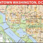 Washington, D.c. Downtown Bike Map   Printable Map Of Downtown Dc