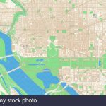 Washington D.c. Printable Map Excerpt. This Vector Streetmap Of   Printable Map Of Downtown Dc