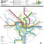 Washington, D.c. Subway Map   Rand   Printable Metro Map Of Washington Dc