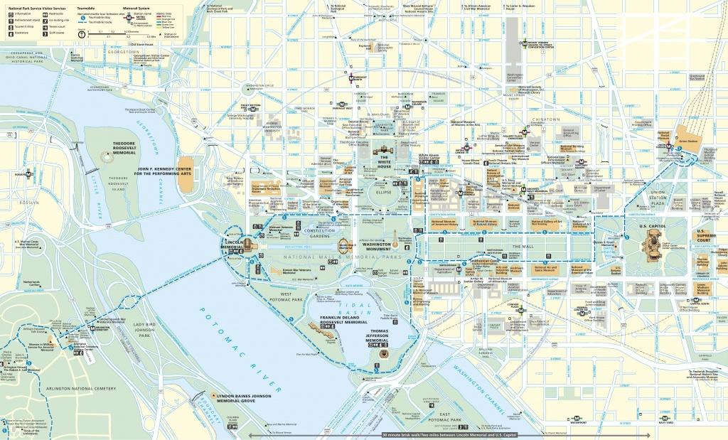 Washington, D.c. Tourist Map - Washington Dc Tourist Map Printable