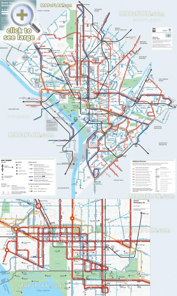 Washington Dc Maps - Top Tourist Attractions - Free, Printable City - Printable Metro Map Of Washington Dc