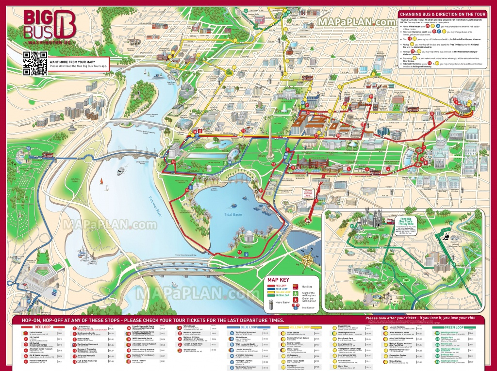 Washington Dc Maps - Top Tourist Attractions - Free, Printable City - Printable Walking Map Of Washington Dc
