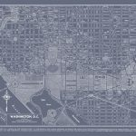 Washington Dc Street Map Vintage Gray Map Print Poster | Maps   Washington Dc City Map Printable