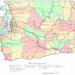 Washington Printable Map   Printable Map Of Washington State
