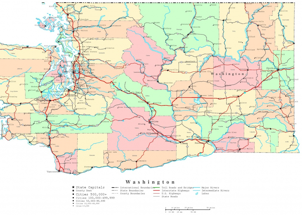 Washington Printable Map - Printable Map Of Washington State
