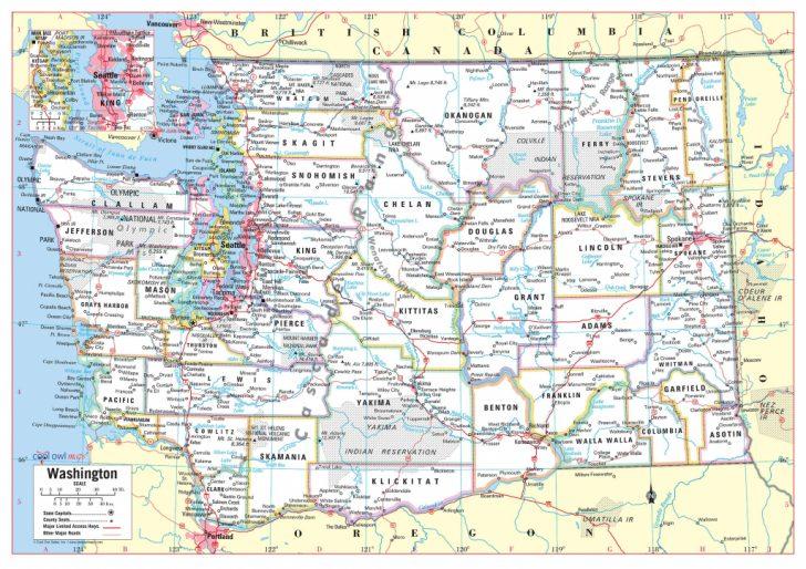 Printable Map Of Washington State
