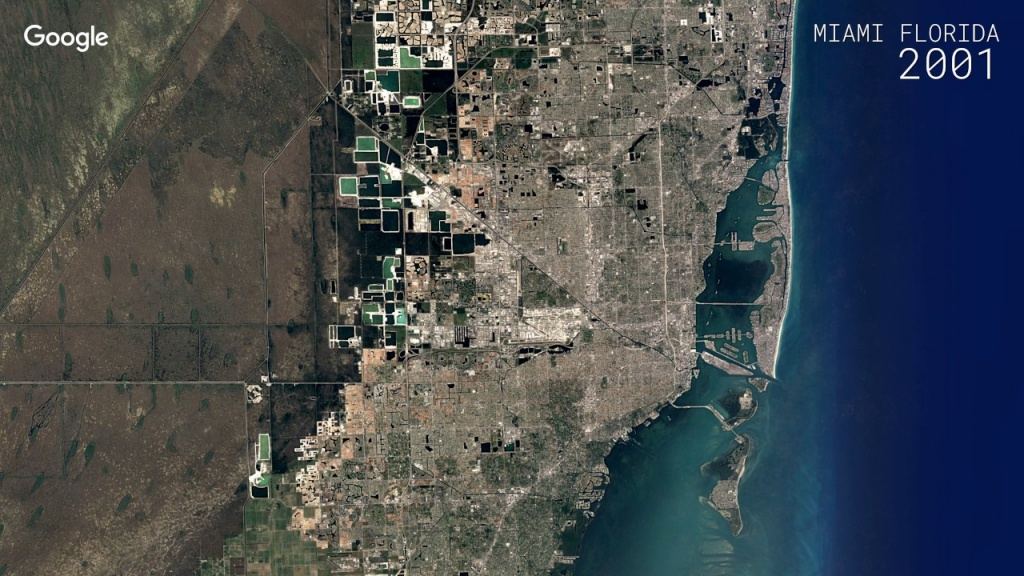 Watch A Google Maps Time-Lapse Of Miami's Growth Over 32 Years - Google Maps Miami Florida